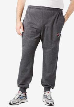 Fleece Logo Jogger Pants by Champion®, CHARCOAL HEATHER
