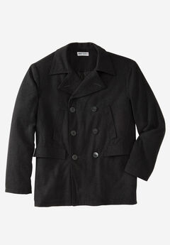 Double-Breasted Wool Peacoat,