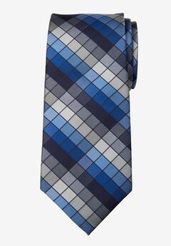 KS Signature Extra Long Check Tie,