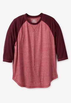 Liberty Blues Mens Big /& Tall Easy-Care Ribbed Knit Henley Tee Henley Shirt
