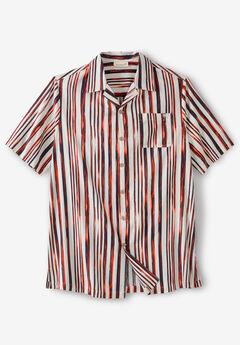 KS Island™ Woven Camp Shirt, BRUSH STRIPE