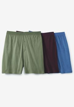 Cotton Boxers 3-Pack, ASSORTED COLORS