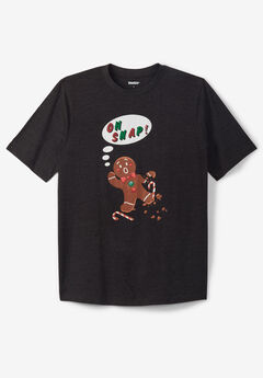 KingSize Seasonal Graphic Tee, GINGERBREAD