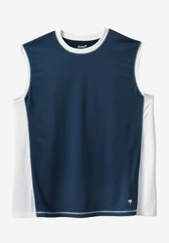 Muscle Swim Shirt by KS Island™, NAVY WHITE
