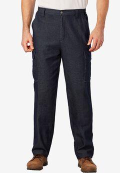 Renegade Cargo Pants with Side Elastic by Boulder Creek®, DENIM