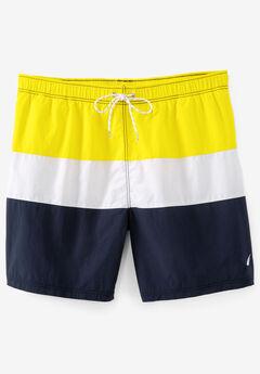 Nautica® Color Block Swim Shorts , SUNFISH YELLOW
