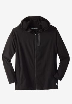 Comfort Cool Moisture Wicking Jacket by KS Sport™, BLACK SOLID