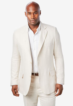 Linen Blend Two-Button Suit Jacket by KS Island™, NATURAL