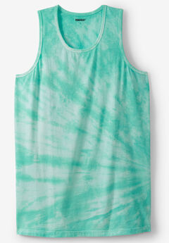 Shrink-Less™ Lightweight Tank, TIDAL GREEN MARBLE