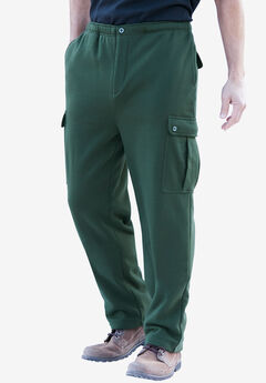 Boulder Creek® Thermal-Lined Cargo Pants, FOREST GREEN