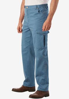 Flex Knit Cargo Pants with Side-Elastic Waist, SLATE BLUE