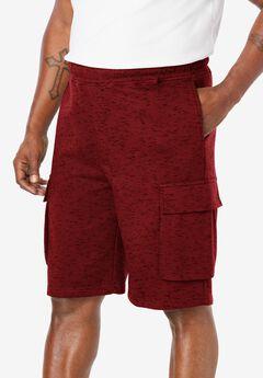 """Fleece 10"""" Cargo Shorts,"""