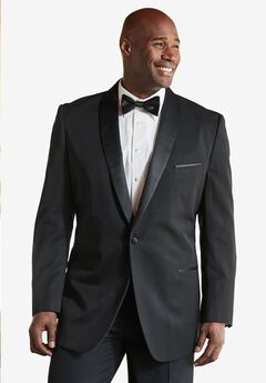 Tuxedo Jacket by KS Signature, BLACK