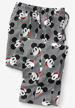 Licensed Novelty Pajama Pants, MICKEY FACES