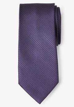 Classic Textured Tie, DARK PURPLE