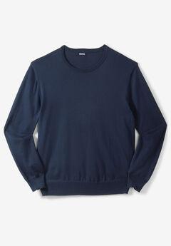 Pima Crewneck Sweater, NAVY