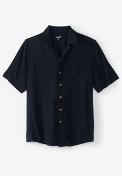 KS Island™ Printed Rayon Shirt, BLACK