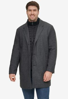 Dockers® Wool Blend Top Coat with Nylon Bib,