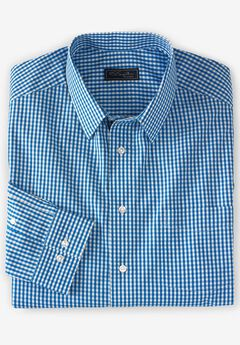 No Hassle® Long-Sleeve Dress Shirt by KS Signature®, ROYAL BLUE CHECK