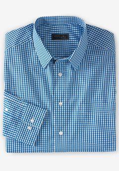 No Hassle® Long-Sleeve Dress Shirt by KS Signature®, ROYAL BLUE CHECK