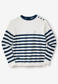 Crewneck Sweater with Shoulder Buttons by North 56°4®,