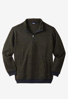 ¼ Zip Sweater Fleece , OLIVE MARL