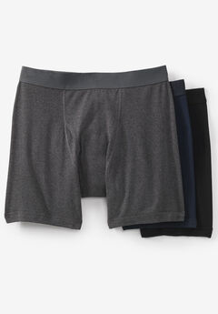Cotton Boxer Briefs 3-Pack, ASSORTED BASIC
