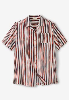 KS Island™ Woven Camp Shirt, BRUSH STRIPE