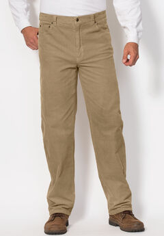 Liberty Blues® 5-Pocket Invisible Stretch Corduroy Pants, KHAKI