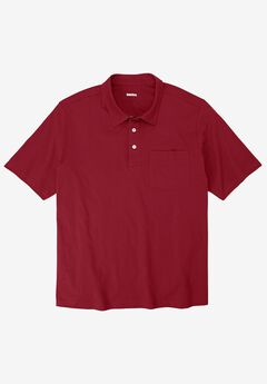 Lightweight Polo T-Shirt, RICH BURGUNDY
