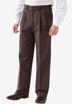 Wrinkle-Resistant Expandable Waist Pleated Pants,