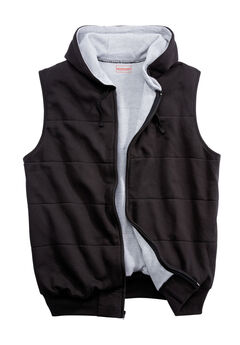 BOULDER CREEK™ THERMAL LINED FLEECE VEST, BLACK