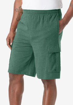 Lightweight Jersey Cargo Shorts, HEATHER HUNTER