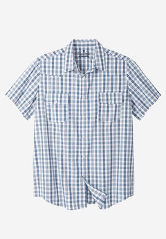 Summer Snap-Button Shirt by Liberty Blues®, WHITE MULTI PLAID