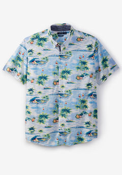 Nautica® Poplin Short-Sleeve Button Down Shirt,