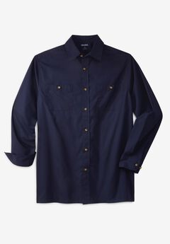 Solid Poplin Shirt,