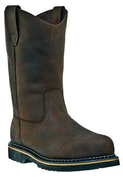 "McRae 11"" Steel Toe Wellington Boots,"