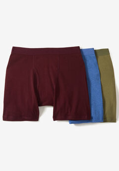 Cotton Cycle Briefs 3-Pack, ASSORTED COLORS