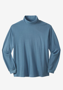 Turtleneck Long-Sleeve Cotton Tee,