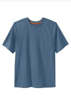 Boulder Creek® Heavyweight Crewneck Pocket T-Shirt, SLATE BLUE