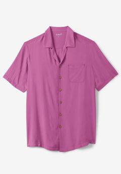 KS Island™ Tropical Rayon Short-Sleeve Shirt, MEADOW MAUVE