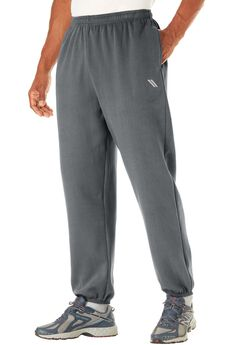 Wicking Fleece Elastic Cuff Pants by KS Sport™, STEEL