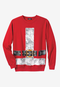 Festive Fleece Crewneck, SANTA SUIT