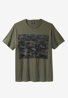 Camo Graphic Tee by MVP Collections®, OLIVE