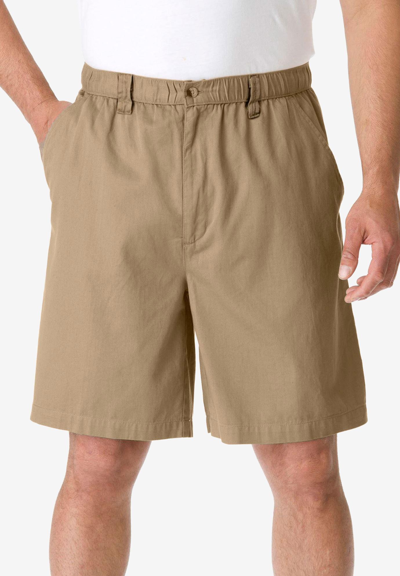 Cotton Works Big Mens Full Elastic Twill Short