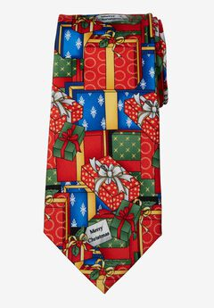 KS Signature Extra Long Novelty Holiday Tie, PRESENTS