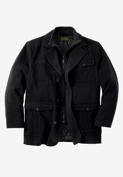 Wool Blend Inset Jacket,