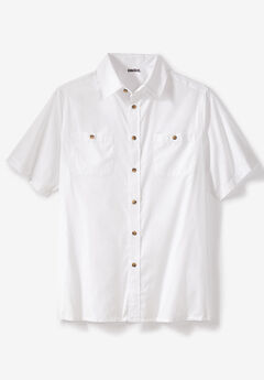 Short Sleeve Solid Sport Shirt,