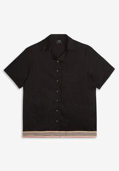 Stretch Cotton Bowling Shirt,