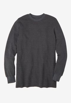 Heavyweight Thermal Underwear Crewneck Tee, HEATHER SLATE